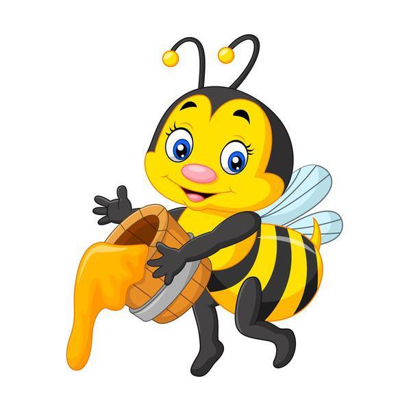 Pszczółka - NAKLEJKA + cięcie po obrysie