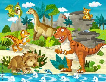 Ziemia Dinozaurów Ilustracja Dla Dzieci 60471017 Bajki