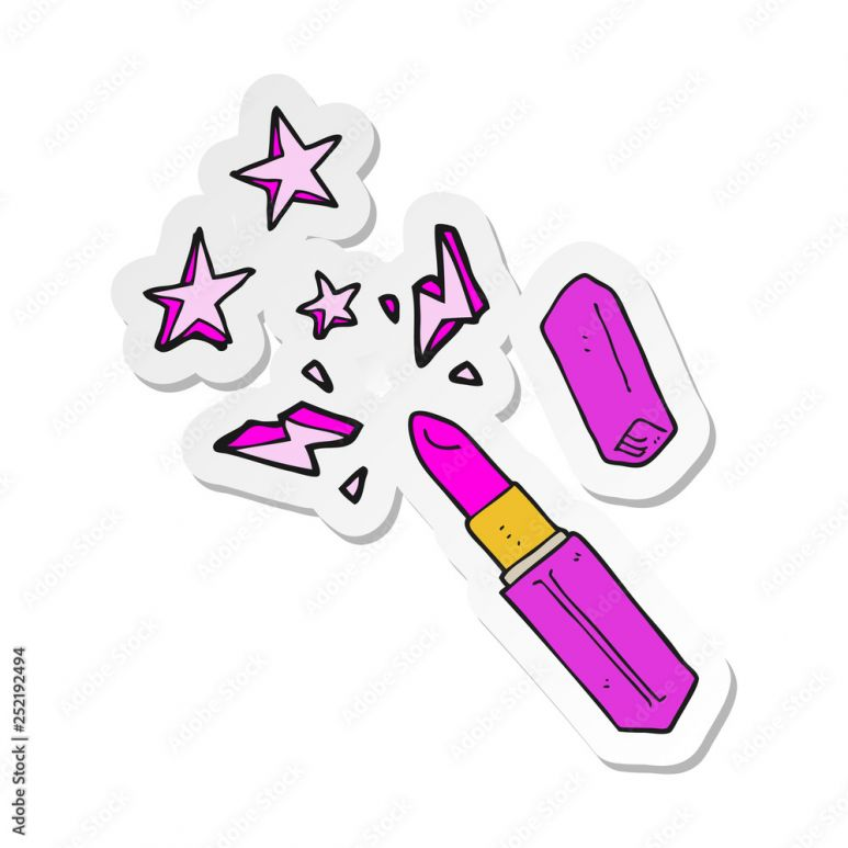 Sticker Of A Cartoon Vivid Lipstick 252192494 Do Pokoju