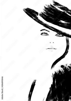 Black And White Fashion Illustration 286895846 Do Salonu