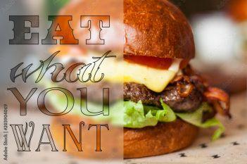 Jedz Co Chcesz 203904069 Do Kuchni Obrazy Na Płótnie