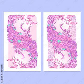 Znak Zodiaku Byk Z Ozdobną Ramką Róż Astrologia Koncepcja