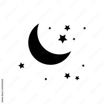 Fototapeta Ikona Księżyc I Gwiazdy Na Białym Tle Płaska Konstrukcja Ilustracja Wektorowa Noc Z Ikoną Księżyca I Gwiazd W Stylu Płaski Symbol Nocy Do Projektowania Strony Internetowej Logo Wektor Eps 10 276994324