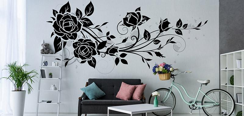 Naklejki Dekoracyjne Na ścianę Kwiaty Ecowall24pl