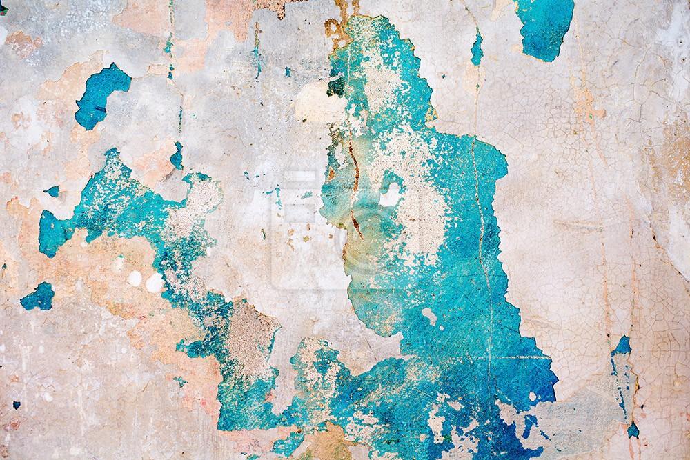 Stara ściana artystycznie obdarta błękitna tynk tekstura