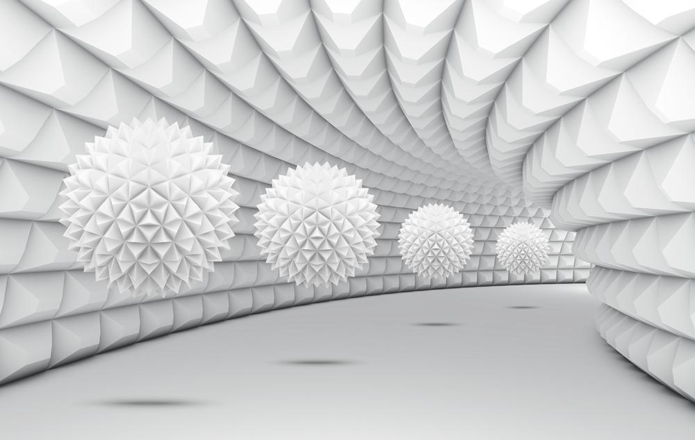 3d tunel z kulami