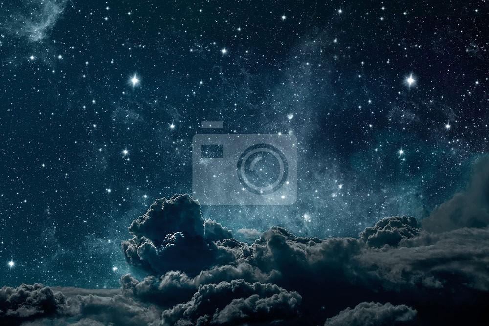 Gwiazdy nocą w kosmosie