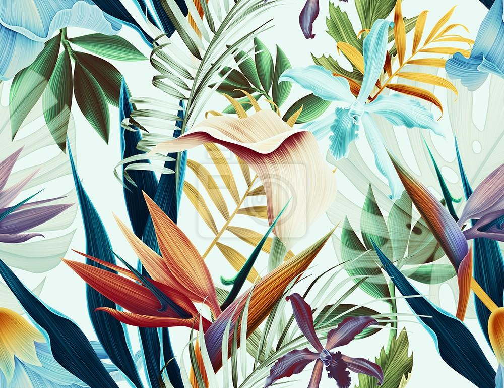 Wzór tropikalnego liścia kwiatu, rośliny
