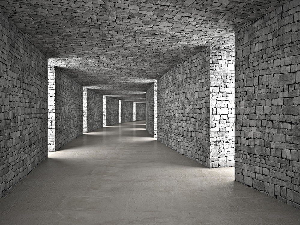Tunel w cegły 3d