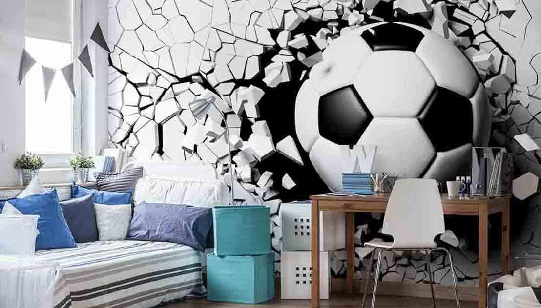 Piłka w rozbitej ścianie